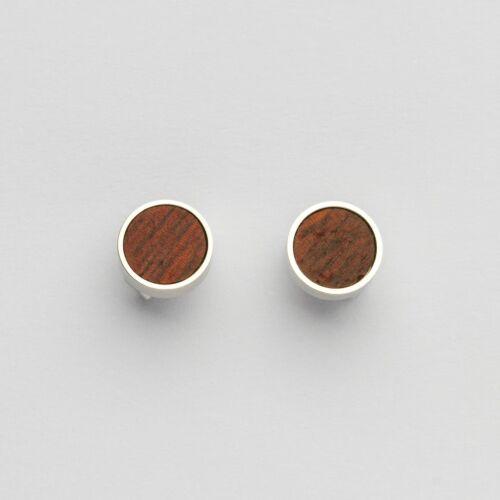 Concentric Earrings (Padauk/Silver)
