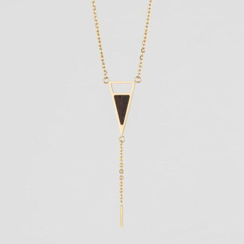 Ink Necklace (Wenge/Gold)
