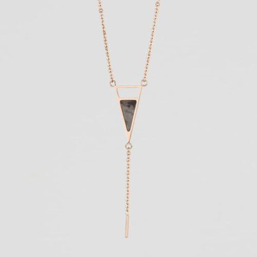 Ink Necklace (Marble/Rose Gold)