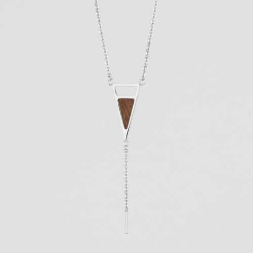 Ink Necklace (Walnut/Silver)