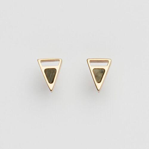 Ink Earrings (Marble/Rose Gold)