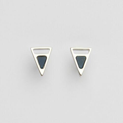 Ink Earrings (Marble/Silver)