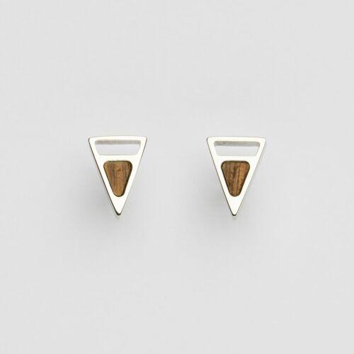 Ink Earrings (Walnut/Silver)