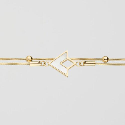 Conceptual Bracelet (Nacre/Gold)