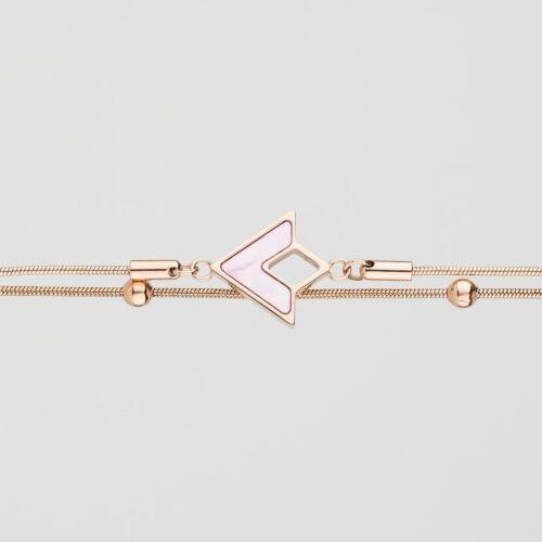 Conceptual Bracelet (Pink Nacre/Rose Gold)