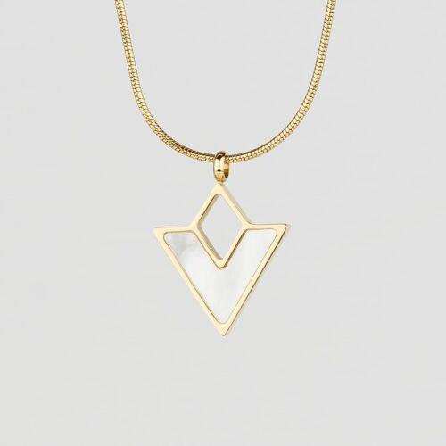 Conceptual Necklace (Nacre/Gold)