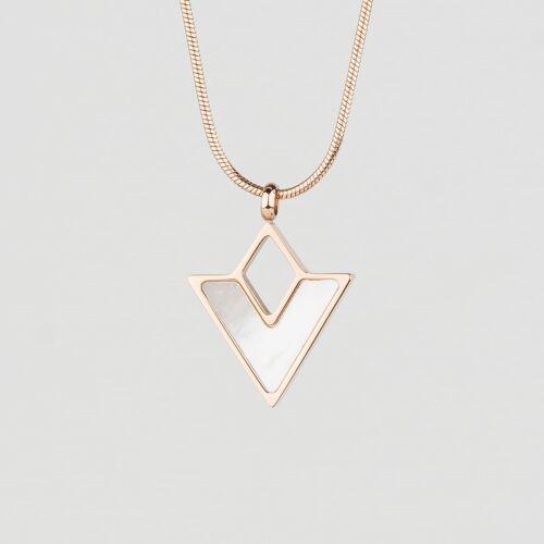 Conceptual Necklace (White Nacre/Rose Gold)