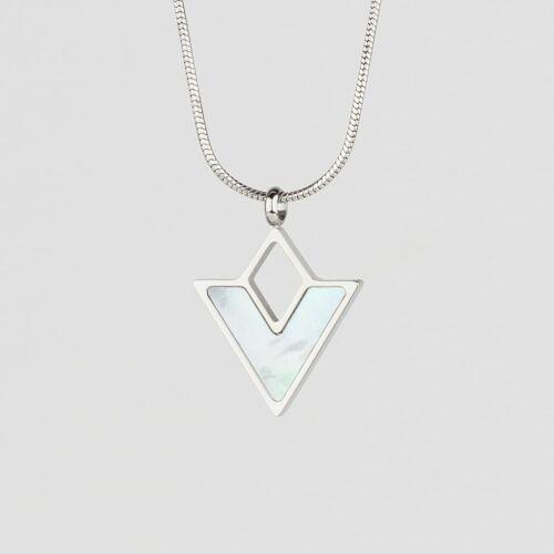 Conceptual Necklace (Nacre/Silver)