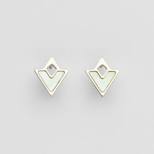Conceptual Earrings (Nacre/Silver)