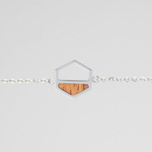 Assemblage Bracelet (Koa/Silver)