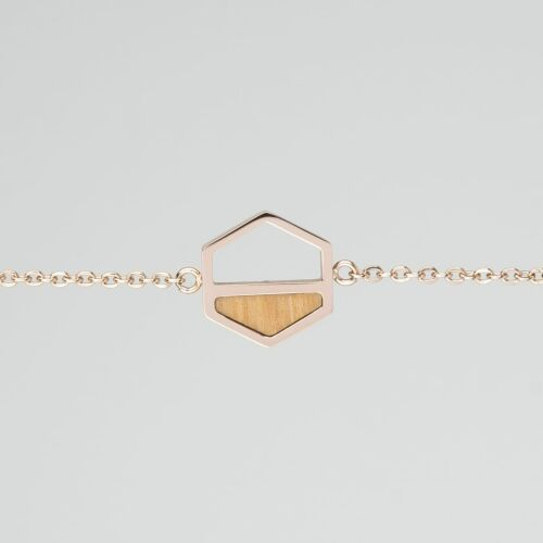 Assemblage Bracelet (Olive/Rose Gold)
