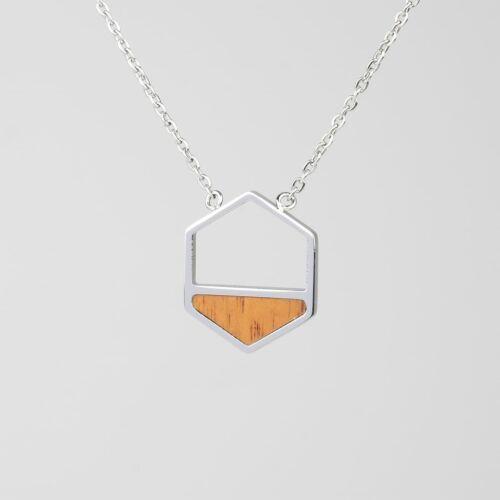 Assemblage Necklace (Koa/Silver)