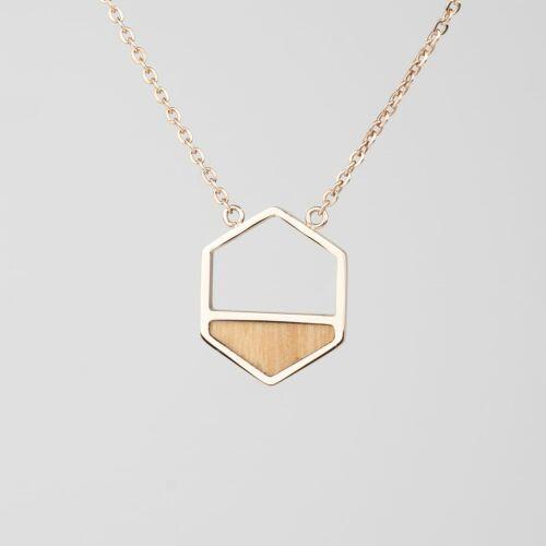 Assemblage Necklace (Olive/Rose Gold)