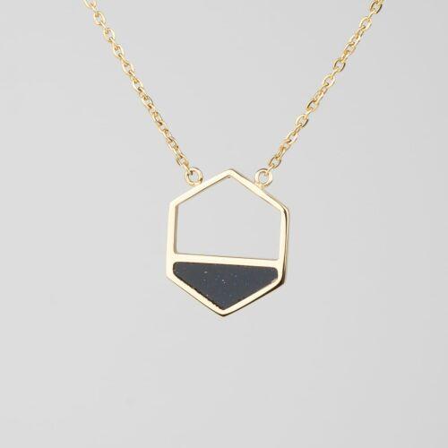 Assemblage Necklace (Sandstone/Gold)