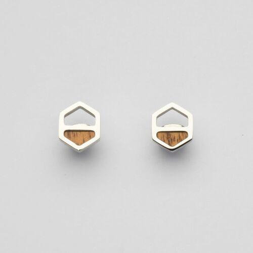 Assemblage Earrings (Koa/Silver)