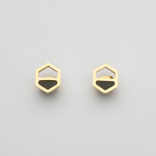 Assemblage Earrings (Sandstone/Gold)