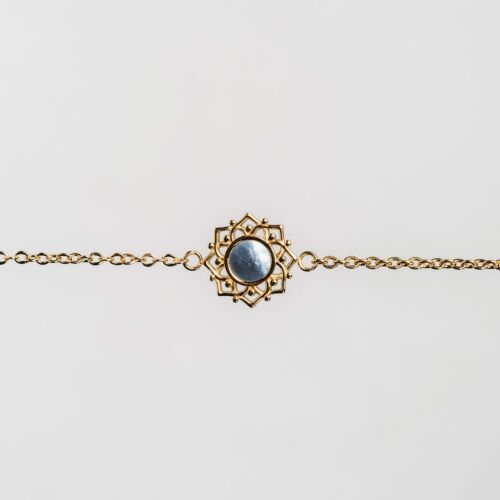 Composition Bracelet (Blue Nacre/Gold)