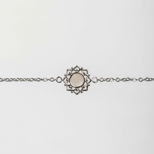 Composition Bracelet (White Nacre/Silver)