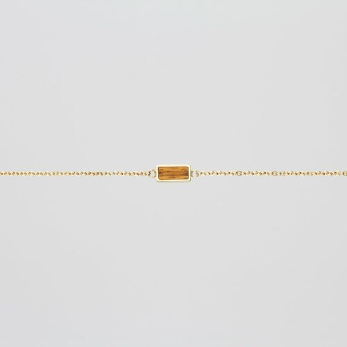 Contour Bracelet (Zebrawood/Gold)