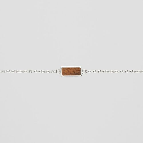 Contour Bracelet (Koa/Silver)