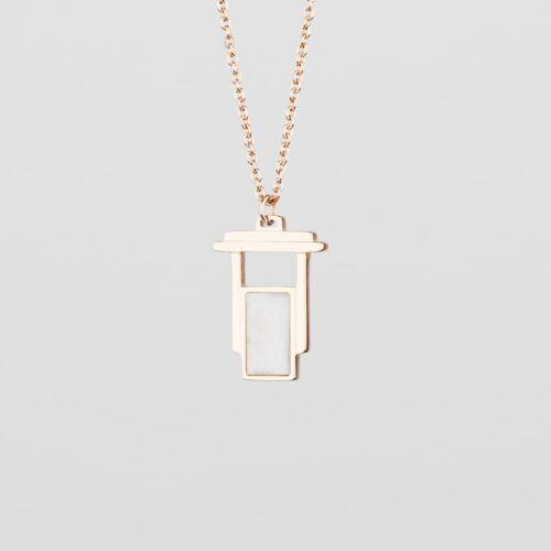 Contour Necklace (Marble/Rose Gold)