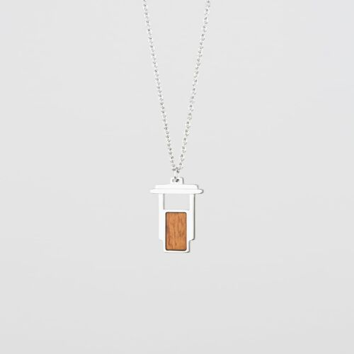Contour Necklace (Koa/Silver)