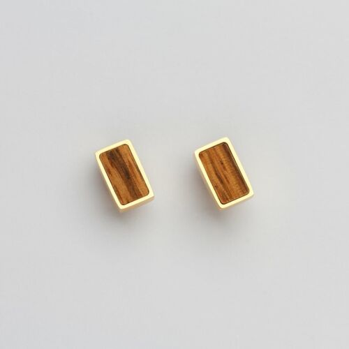 Contour Earrings (Zebrawood/Gold)