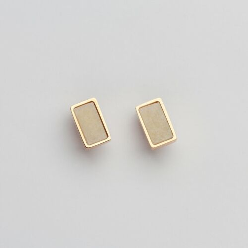 Contour Earrings (Marble/Rose Gold)