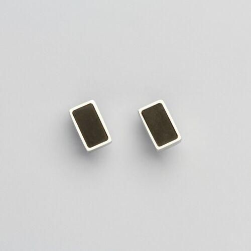 Contour Earrings (Slate/Silver)