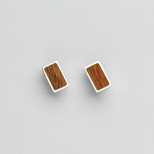 Contour Earrings (Koa/Silver)