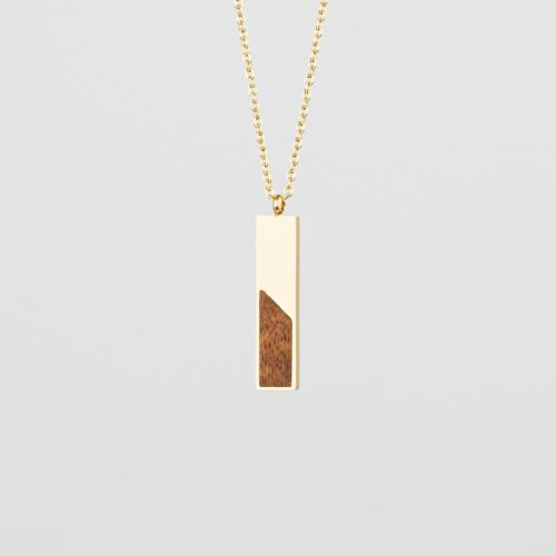 Ephemera Necklace (Koa/Gold)