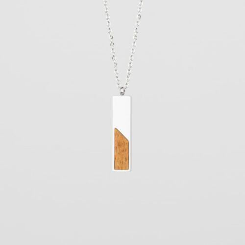 Ephemera Necklace (Marblewood/Silver)