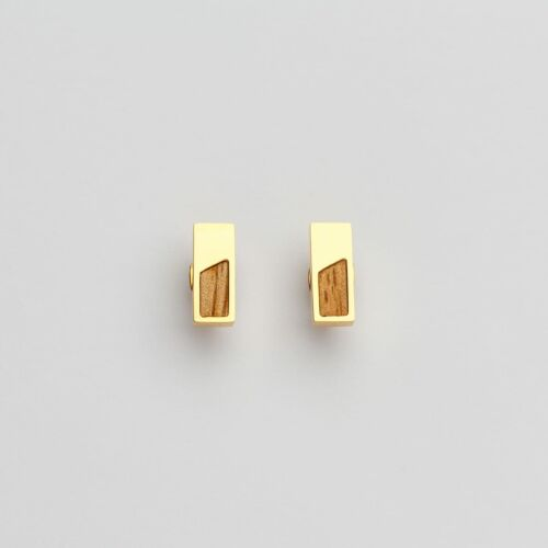 Ephemera Earrings (Koa/Gold)