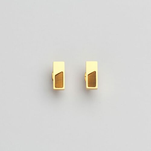 Ephemera Earrings (Tiger's Eye/Gold)