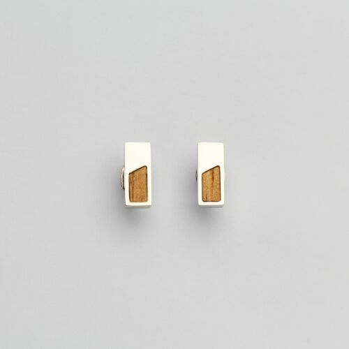 Ephemera Earrings (Marblewood/Silver)