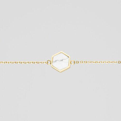 Facade Bracelet (Turquoise/Gold)