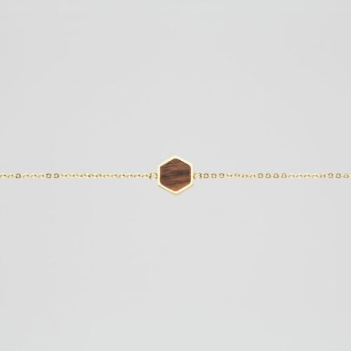 Facade Bracelet (Walnut/Gold)