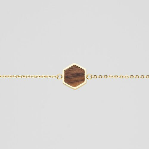 Facade Bracelet (Walnut/Gold)