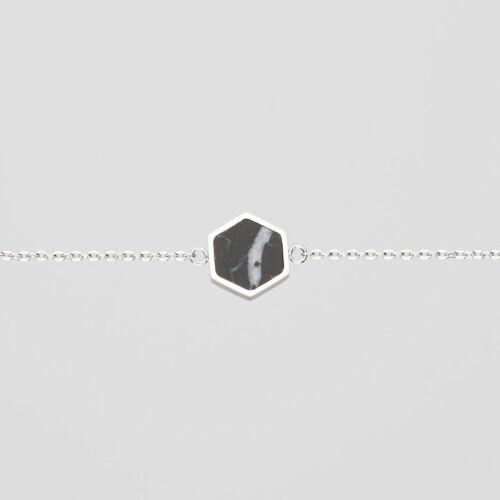 Facade Bracelet (Marble/Silver)