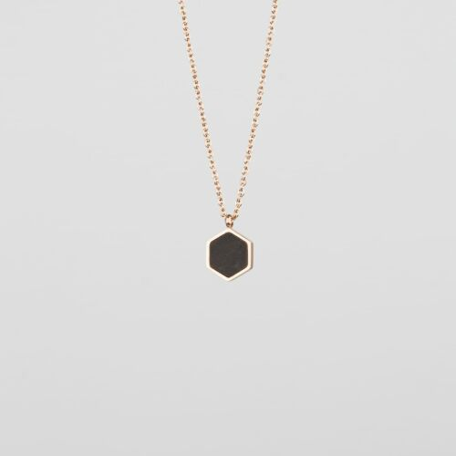 Facade Necklace (Leadwood/Rose Gold)