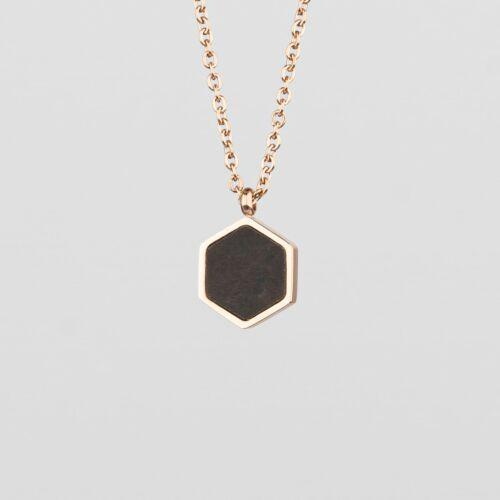 Facade Necklace (Leadwood/Rose Gold)