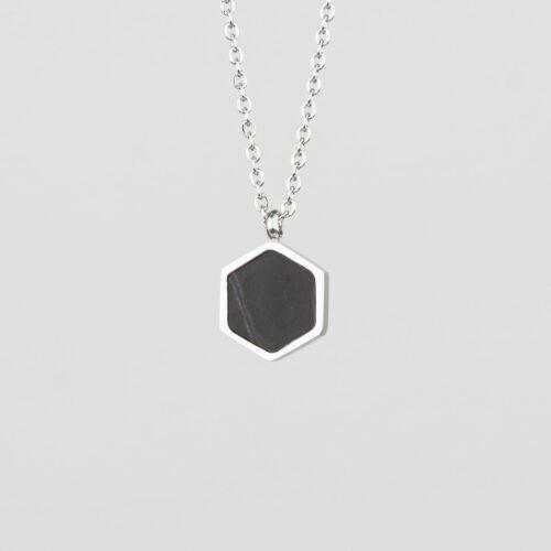 Facade Necklace (Marble/Silver)