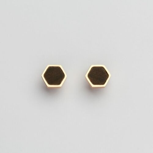 Facade Earrings (Leadwood/Rose Gold)