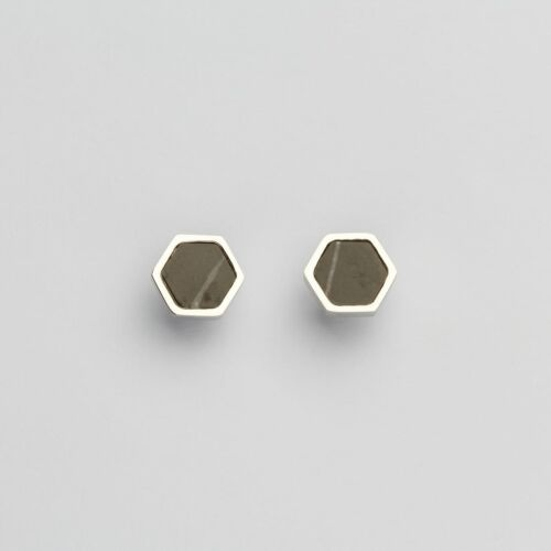 Facade Earrings (Marble/Silver)
