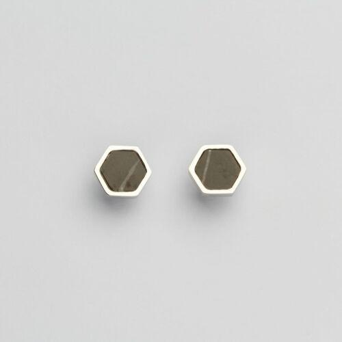 Facade Earrings (Marble/Silver)