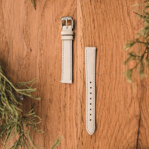 Leather Strap 14mm (Grey/Silver)