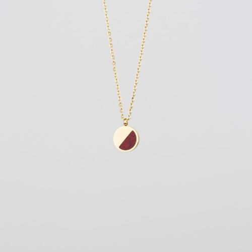 Muse Necklace (Amaranth/Gold)