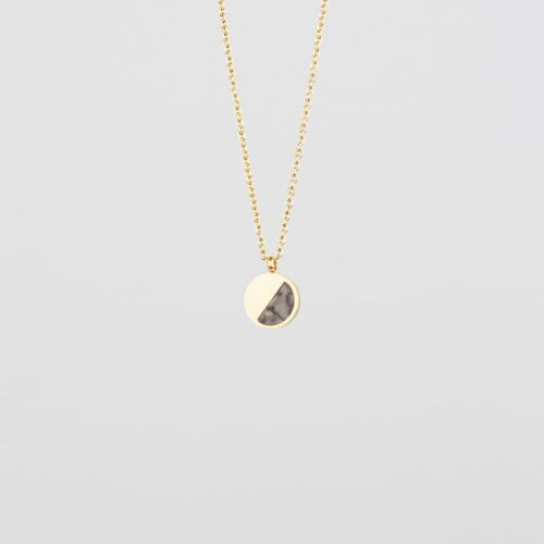 Muse Necklace (Marble/Gold)