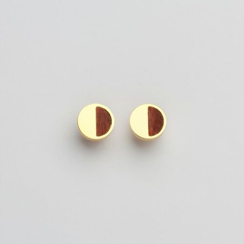 Muse Earrings (Amaranth/Gold)