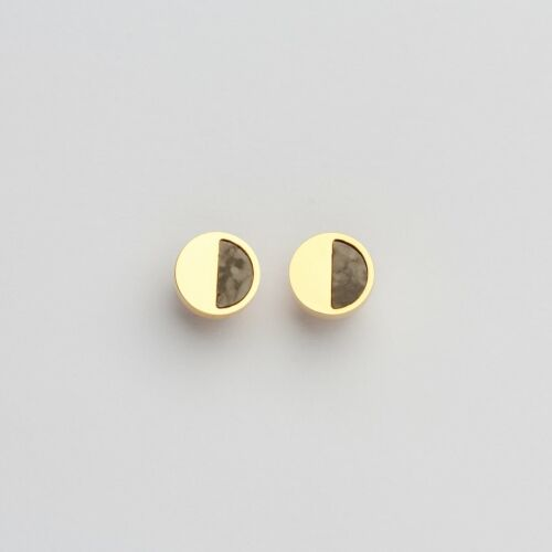 Muse Earrings (Marble/Gold)